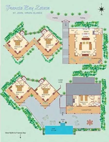 Fancis Bay Estate Villa Floor Plan St John
